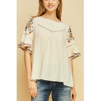 Women Entro Embroidered Paesant Top    Elegant and beautiful 100% rayon ac183 RJOANDH