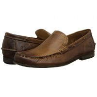 Men Frye Lewis Leather Venetian Soft synthetic lining for added comfort Tan Antique Pull Up 8289601 NAYXDYB