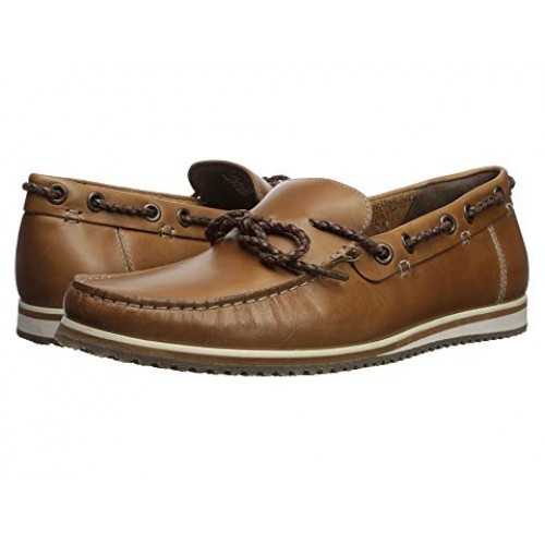 Men Hush Puppies Bolognese Rope Lace Soft synthetic lining for added comfort Light Brown Leather 9008483 FJKELNE