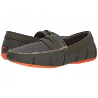 Men SWIMS Penny Loafer Soft synthetic lining for added comfort Olive/Orange 9018656 AFEXZJU
