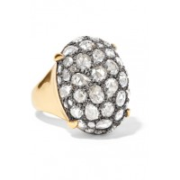Fred Leighton Women Collection gold silver and diamond ring Measurements can be found in the link below 1076916 RRAVWBG