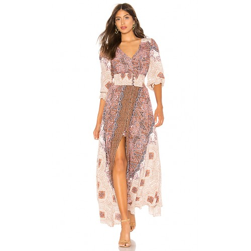 Free People Mexicali Rose Maxi Dress im Ivory Ivory Teilfutter Knopfverschluss vorn FREE-WD1431 QKUTKWL