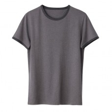 La Redoute Collections 100% Organic Cotton Crew Neck T-Shirt Mid grey marl NSXEPCA